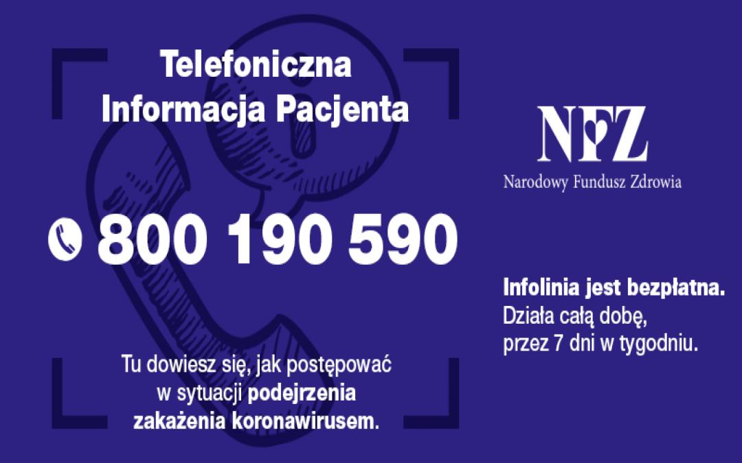 Koronawirus: NFZ uruchomił teleporady medyczne w przychodniach