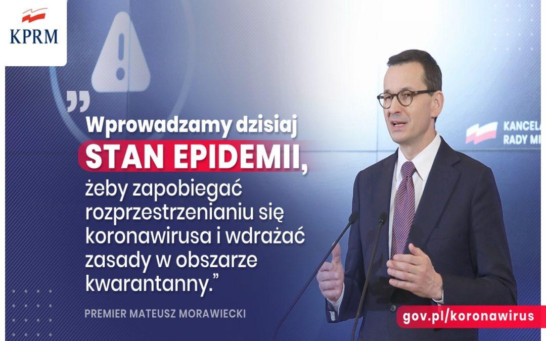 W Polsce wprowadzono stan epidemii