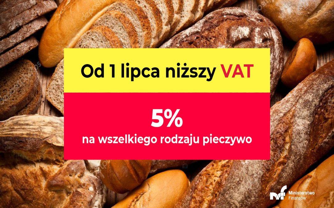 Nowe stawki VAT m.in. na niektóre artykuły spożywcze i higieniczne